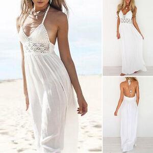 Mujer-Dama-De-Honor-Vestido-Largo-Noche-Coctel-playa-vestido-vestido-de-verano