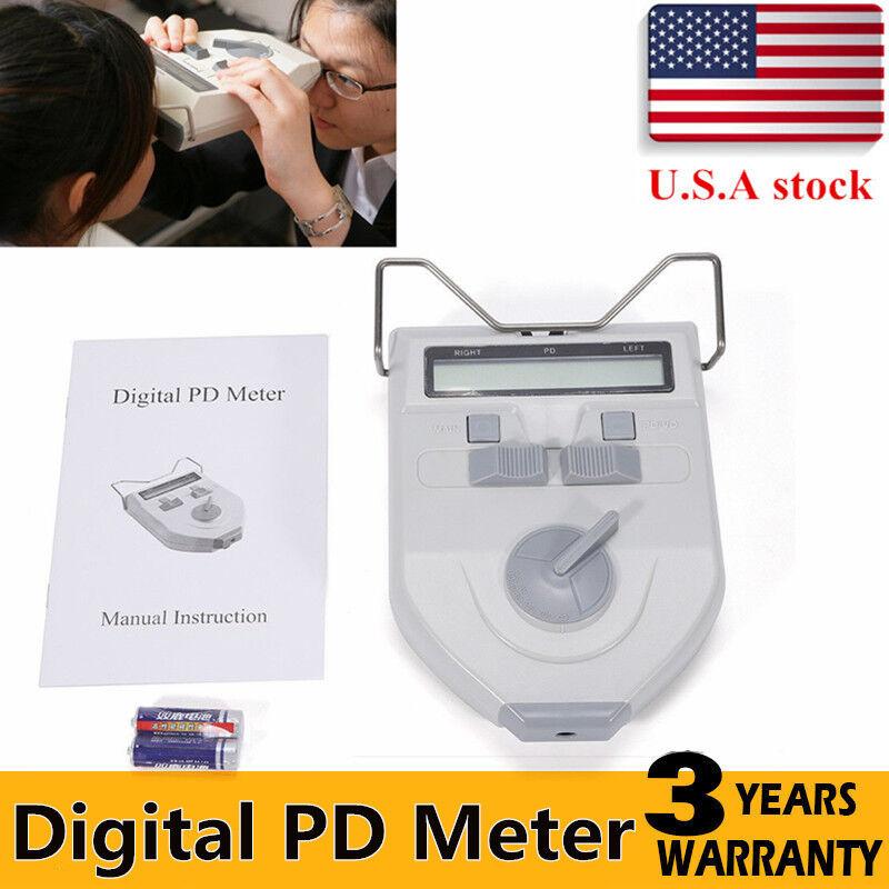 Glasses Equipment Digital LCD Optical Pupilometer PD Pupil Distance Meter