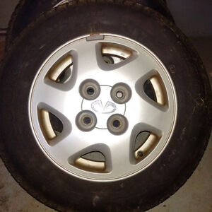 """4 14"""" tires with rims"""