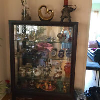 Beautiful wood and glass cabinet
