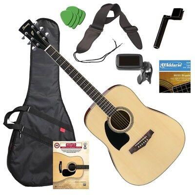 Ibanez PF15 Left-Handed Acoustic Guitar - Natural GUITAR ESSENTIALS BUNDLE