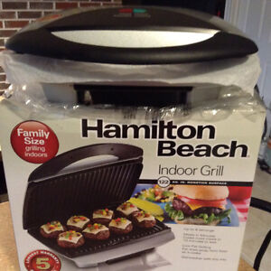 (New) Hamilton Beach Indoor Grill Family Size