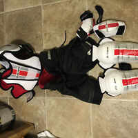 Youth hockey gear used by a 5 year old.
