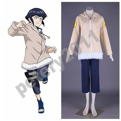 Naruto Anime Hyuga Hinata Cosplay Costume Halloween Cos New - Hinata Hyuga Halloween Costume