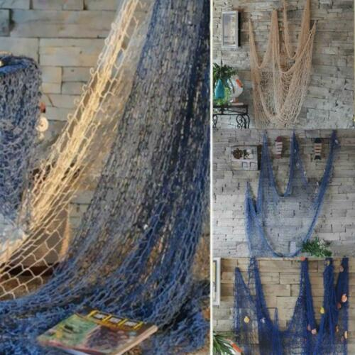 Home Decor Fishing Net Seaside Wall Beach Party Sea Shells W