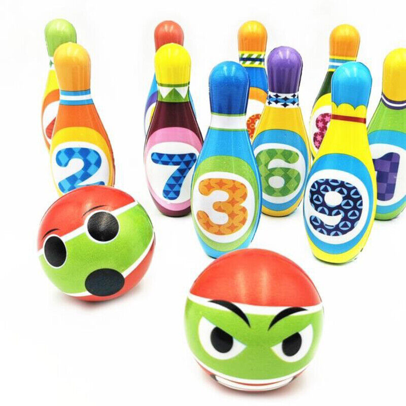 12pcs Kids Bowling Play Toy Set for 2,3,4,5 Year Old Boys Gi