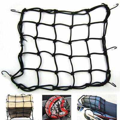 Cargo Net Motorcycle Helmet Mesh Luggage Tie Down Bungee Cord Adjustable Black - Motorcycle Bungee Net