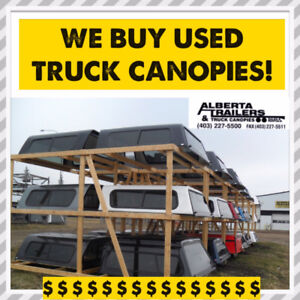 We Buy Sell & Consign Used Truck Canopies and Utility Trailers
