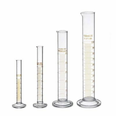 Thick Glass Graduated Measuring Cylinder Set 5ml 10ml 50ml 100ml Glass