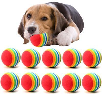Tennis Balls Dog Chew Toy Cat Game Small Pet Puppy Fun Play Mini Size 10 Pack