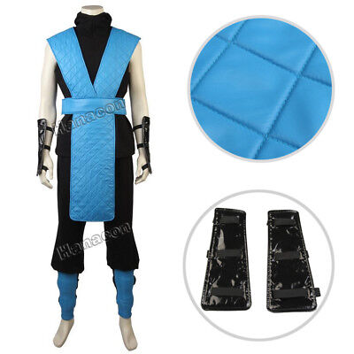 Mortal Kombat X Sub-Zero Cosplay Costume Raiden Ninja Thunder Outfit Full Suit