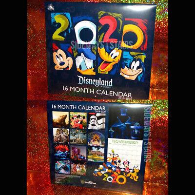 Calendario 2020 16.Disneyland 2019 2020 Calendar Disney Hatbox Ghost Fireworks 16 Month 10 X20 Dca
