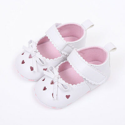 Newborn Infant Baby Girl Soft Crib Sole Shoes Anti-slip Sneakers Bowknot Sandals