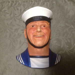 5 English Chalkware Heads by Legend Products of England. St. John's Newfoundland image 2