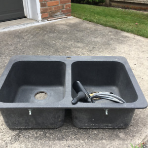 USED GRANITE SINK AND MEON FACET