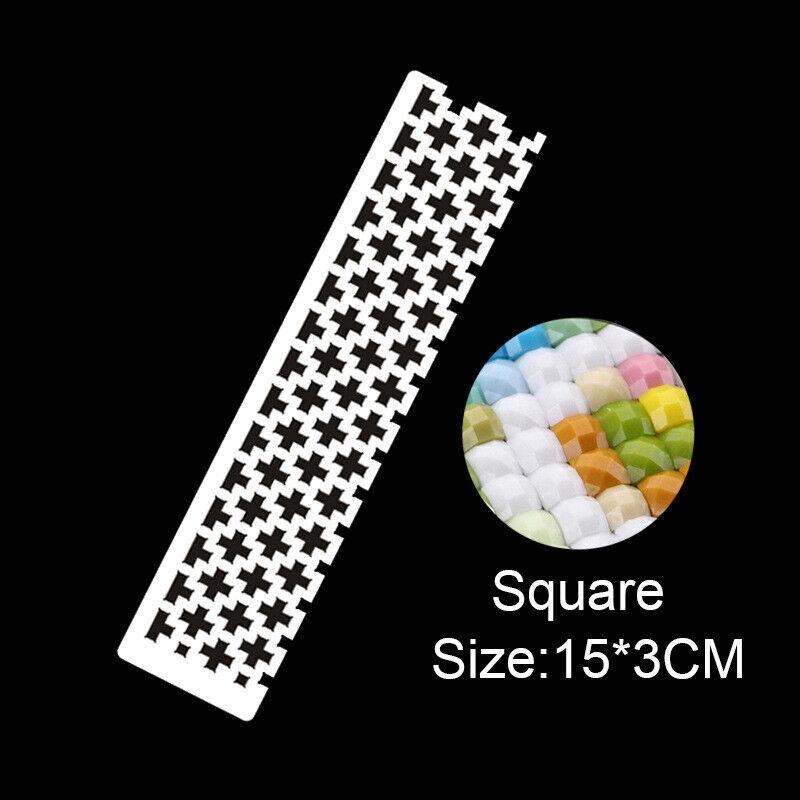 Square drill ruler