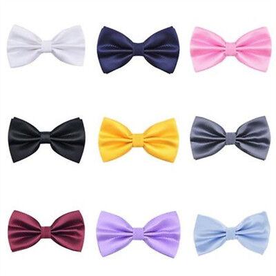 (Mens Boy Classic Pretied Knot Wedding Bowties Adjustable Pre-Tied Tuxedo Bow Tie)