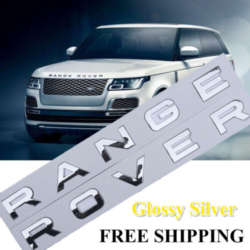 Gloss Silver RANGE ROVER LETTERS HOOD TRUNK TAILGATE EMBLEM BADGE NAMEPLATE AS
