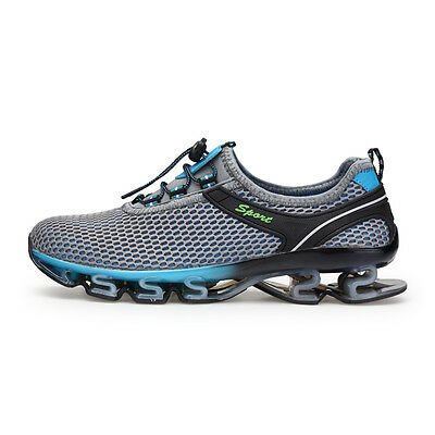 Mens Big Size Spring Blade Running Shoes Shock Absorb Breathable Casual Shoes US Spring Running Shoes
