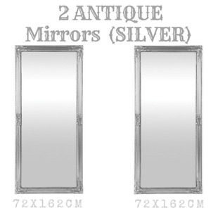 Two Silver LARGE BEAUTIFUL MIRRORS