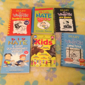 Big Nate and Diary of Wimpy Kid books