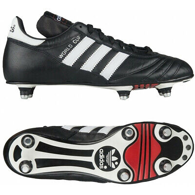 MENS ADIDAS WORLD CUP COPA MUNDIAL SOCCER FOOTBALL CLEATS BLACK WHITE SHOES Adidas World Cup Soccer Shoes