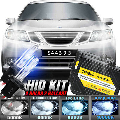 For Saab 9-3 2003-2007 Low Dipped Beam H7 Xenon Headlight Bulbs Pair Lamp