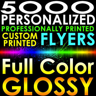 5000 PERSONALIZED CUSTOM PRINTED FLYERS 8.5x5.5 Full Color Gloss 1/2 Page 2side](Custom Coloring Pages)