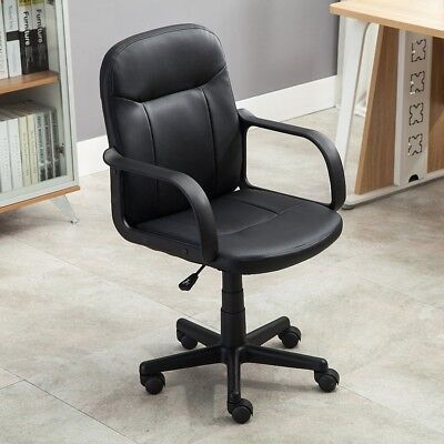 Style Boycott Ergonomic PU Leather Computer Desk Task Swivel Office Chair Home