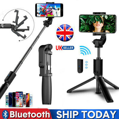 Bluetooth Selfie Stick Remote Extendable Telescopic Monopod Tripod Phone Stand