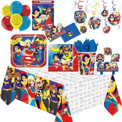 Dc Superheld Mädchen Party Geschirr, Dekorationen und Ballons