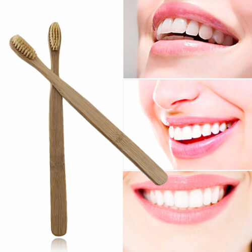 12 Pack Bamboo Toothbrushes Bactericidal Medium Brushes For