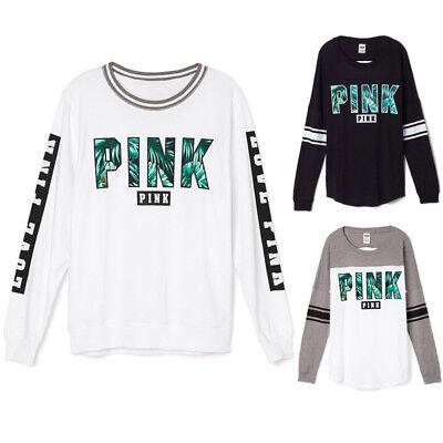 Fashion Women Ladies Autumn Winter Long Sleeve Crew Neck Tops Blouse T-shirt
