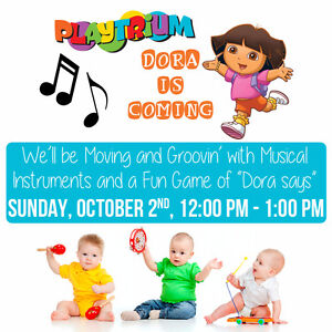 Dora is coming to Playtrium to visit you!