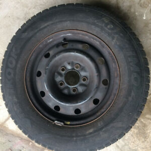 Hankook Optimo 4S 215/70R15 with rims and covers
