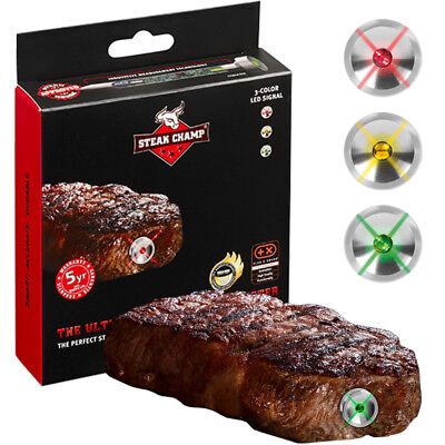 Grillthermometer BBQ Grill Thermometer Fleischthermometer Edelstahl Steakchamp