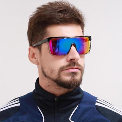 Sports Sunglasses Men Fat Top One Piece UV400 Square Glasses HD Lens (Top Cycling Glasses)