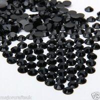 1000pz Lucido Nero 5mm Ss20 Retro Piatto Resina Strass Diamante Finto Craft -  - ebay.it