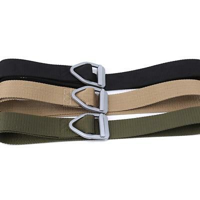 Outdoor Heavy Duty Rigger Army Belt Military Tactical Buckle Belt JJ ()