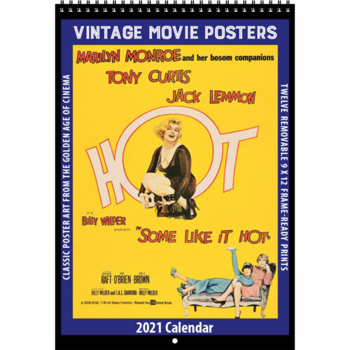 2021 VINTAGE MOVIE POSTERS CALENDAR by Asgard Press