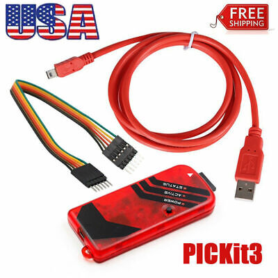 Pickit3 Microchip Programmer W Usb Cable Wires Pic Kit 3 Usa