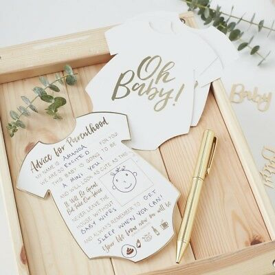 Baby Shower Games Baby Shower Ideas Oh Baby Advice Cards Pk 10 - Baby Shower Guest Book Ideas