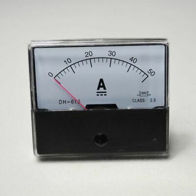 Dc 0-50a Ammeter Analog Amp Meter Panel Meters Dc Current High Quality