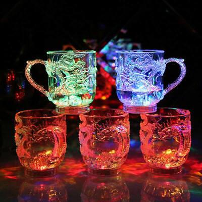 Markante blinkende led wein glas leuchten barware trinken tasse für party Neu ()