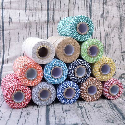 Cotton Cord Baker Coloured Twine Bundle Best Quality100m String Ribbon - Bakers Twine