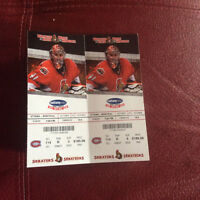 Senators Vs. Canadians ticket