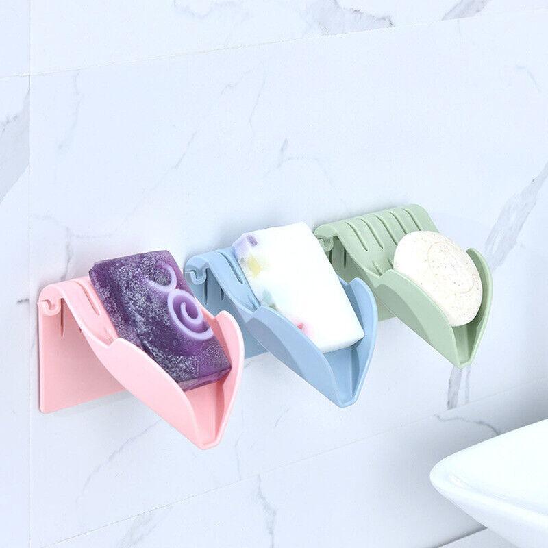 Hot Sale Double Layer Sucker Soap Box Soap Dish Drain Sucker Bathroom Soap Box