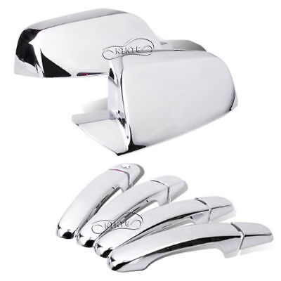 For 2011-2017 Chevy Equinox Side view Mirror Covers +4 Door Handle Cover Chrome