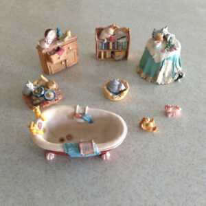 Antique Cat collection - hand painted in Scotland