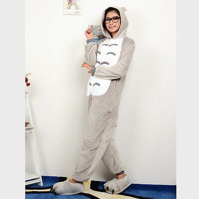 Adult Unisex Pajamas  Cosplay Costume Animal Onesie My NeighborTotoro sleepwear  (Plus Size Onesie)